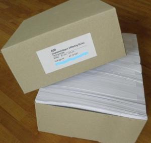ORDNER-EINLAGEN | Großpackungen mit 800 Stk/Farbe + Gratis-Zugabe